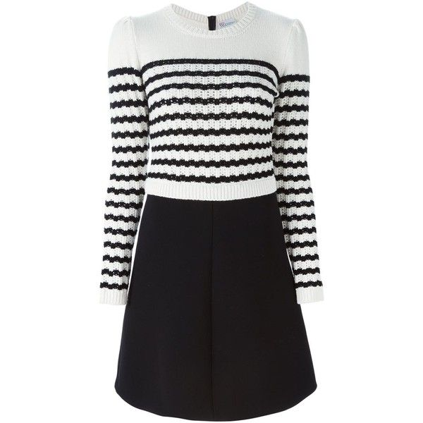 Red Valentino striped sweater dress ( 650) ❤ liked on Polyvore featuring  dresses 3652ecb57