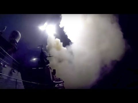 RAW Russian warships Launch cruise missiles in Syria @ ISIL targets Breaking News October 7 2015 - YouTube