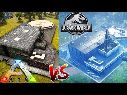 cool BUILDING Jurassic World Evolution IN ARK! - (1) Ark Survival - new blueprint ark survival