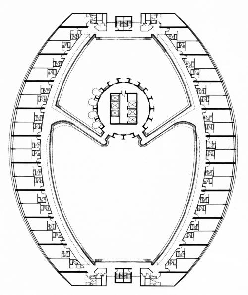 John Portman Atlanta Marriott Marquis Guest Room Level Floor Plan