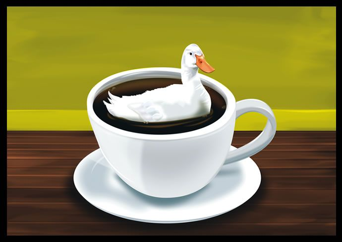 There´s a duck in my coffee- Matthew Inman