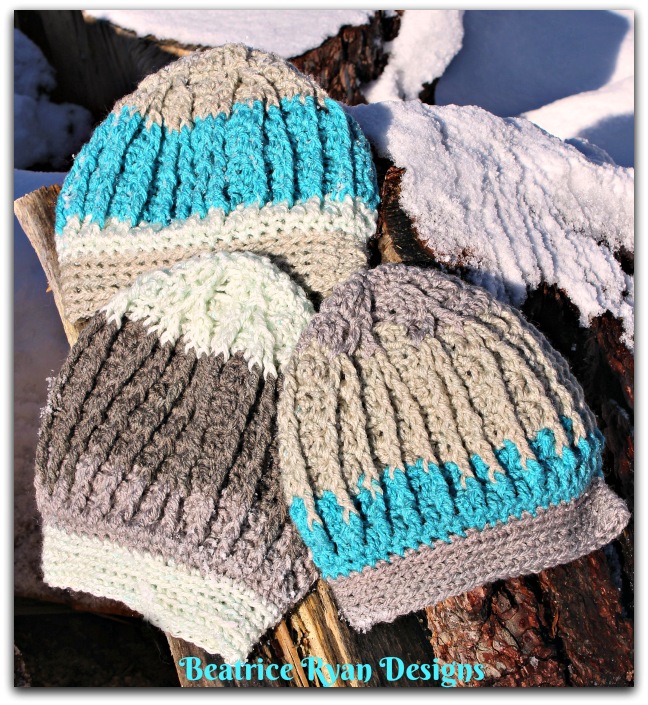 Snowy Mountain Beanie... Free Crochet Pattern | CHEMO and other hats ...