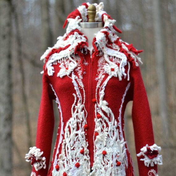 Long sweater COAT Winter wonderland fantasy fairy by amberstudios