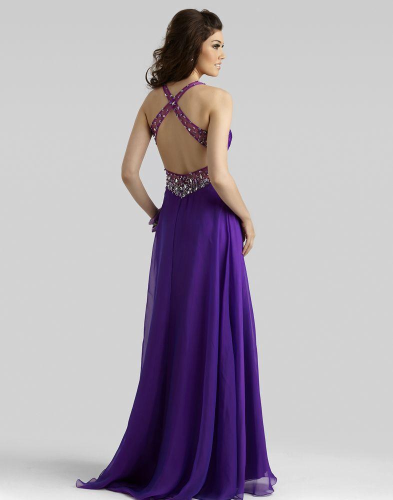 Style 2384 Promgirl.net #Clarisse #backview #purple | Prom dresses ...