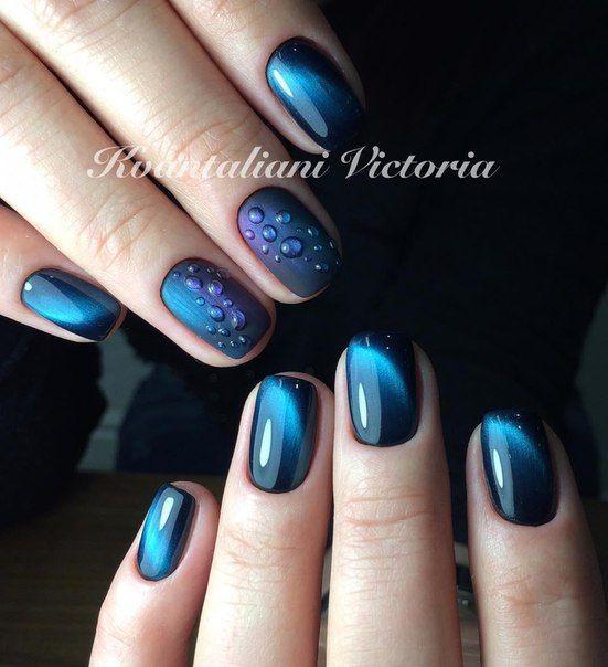 Новогодний дизайн ногтей на короткие ногти фото