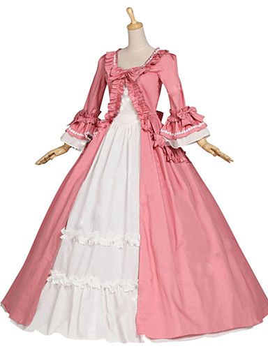 df26584e041c Medieval Renaissance Costume Female Party Costume Masquerade Pink Vintage  Cosplay Other Cotton Long Sleeves Cap