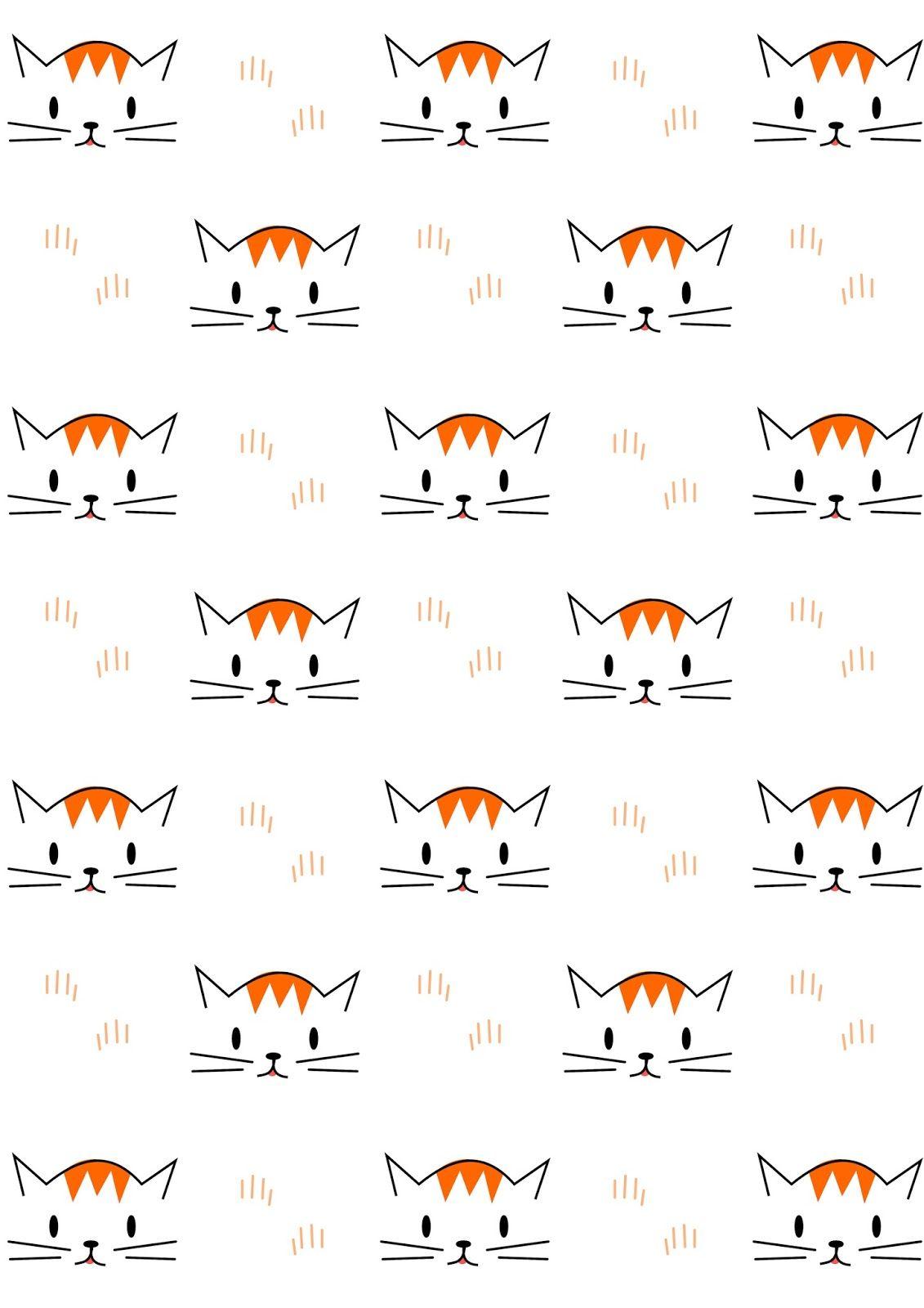 Free Digital Cat Scrapbooking Paper Ausdruckbares Geschenkpapier Freebie Cat Wallpaper Pattern Paper Cat Pattern