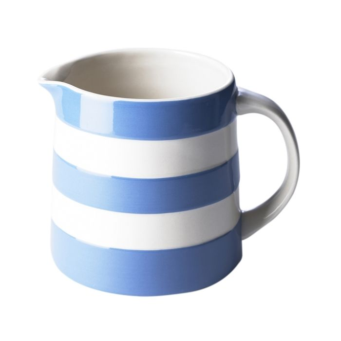 Blue 20oz Dreadnought Jug Seconds Cornishware Classic British Kitchenware By T G Green Cornishware White Tableware Stoneware