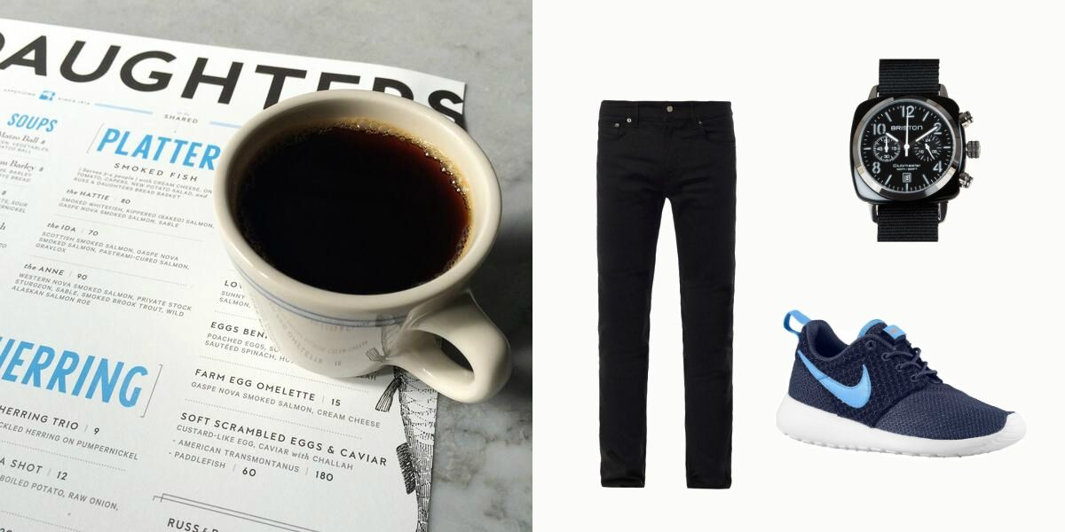Over the weekend we checket out Russ & Daughters. Here's what we wore!