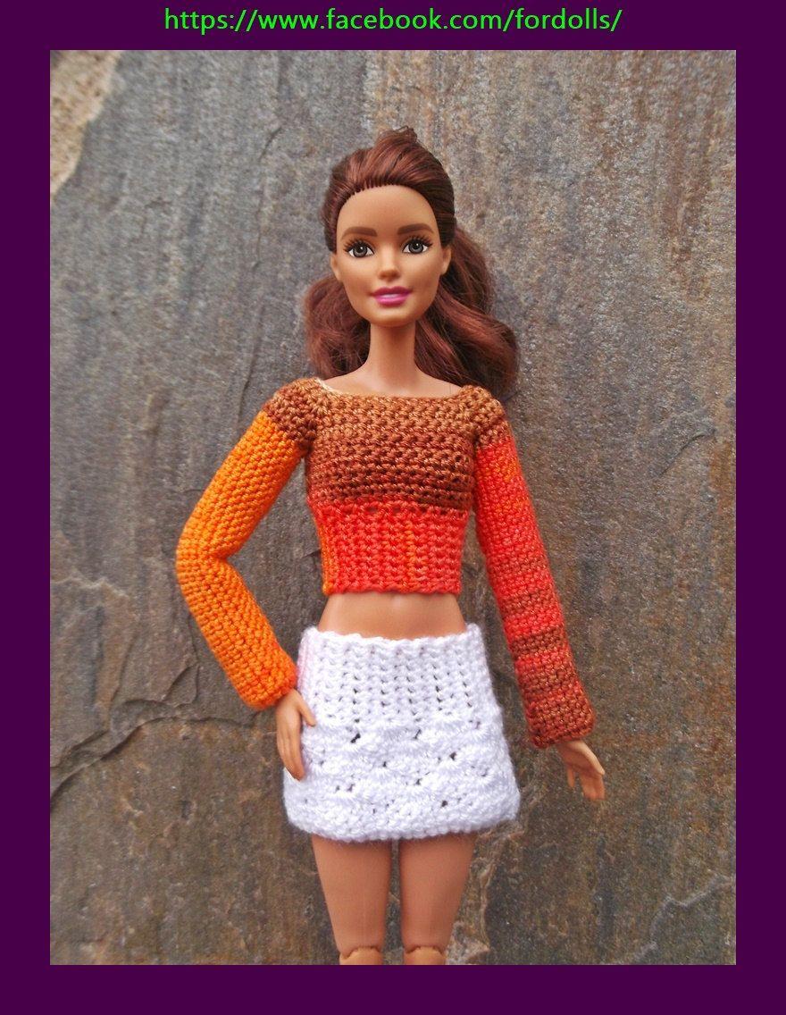Bonito Patrones Que Hacen Punto Gratuitas Para Barbie Imagen - Manta ...