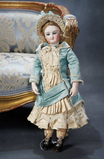 Ensemble - The Hanne Büktas Collection: 60 Petite French Bisque Smiling Poupee with Bisque Hands by Leon Casimir Bru