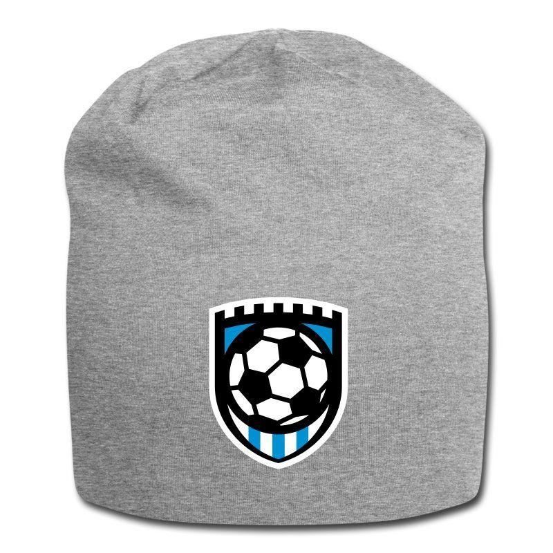 Fussball Minimal Logo Wappen Falgge Badge Jersey Beanie