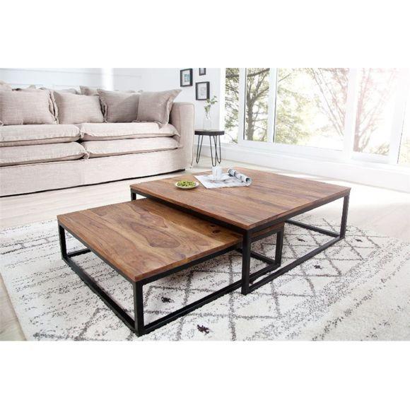 Chloe Design Table Basse Design Fusio Ii Bois Fonce 75cm X 27cm