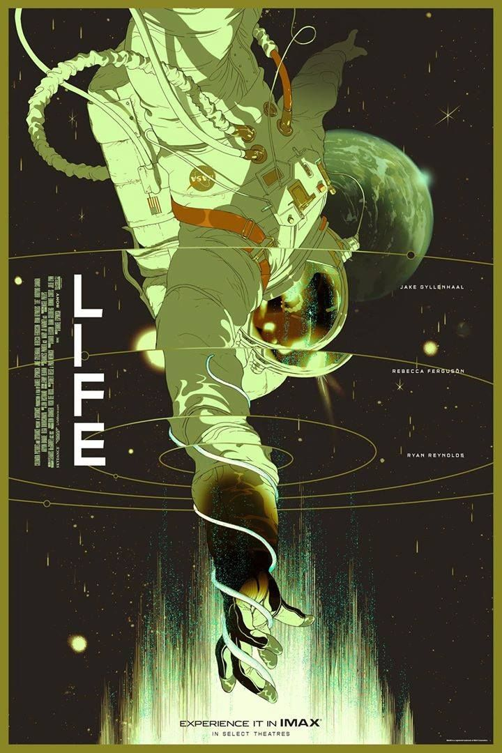 What survived Mars is now only 249 miles above Earth. Check out this Mondo poster and experience #LIFEmovie, in theatres March 24