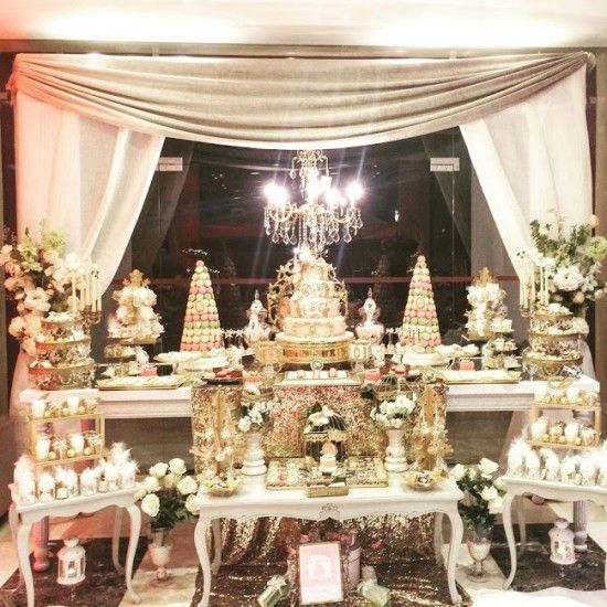 princess royal baby shower table scape