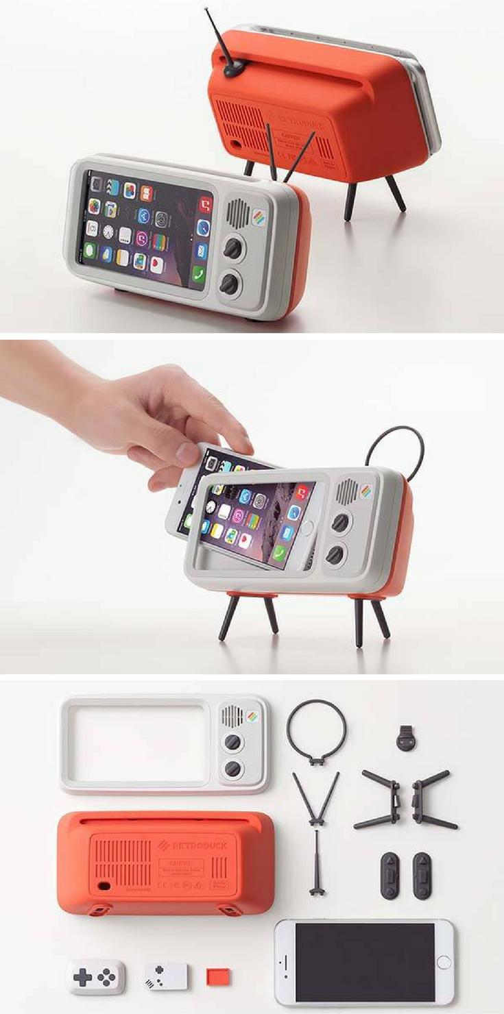 retroduck retro tv iphone dock phone cases pinterest handyh lle handy zubeh r and apple. Black Bedroom Furniture Sets. Home Design Ideas