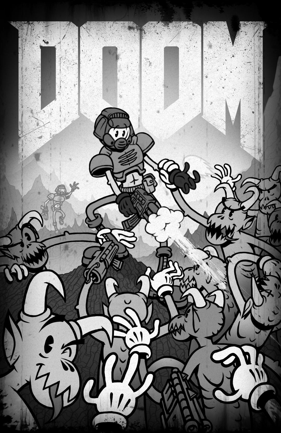 Old Timey Doom Doom Doom videogame, Doom game, Doom