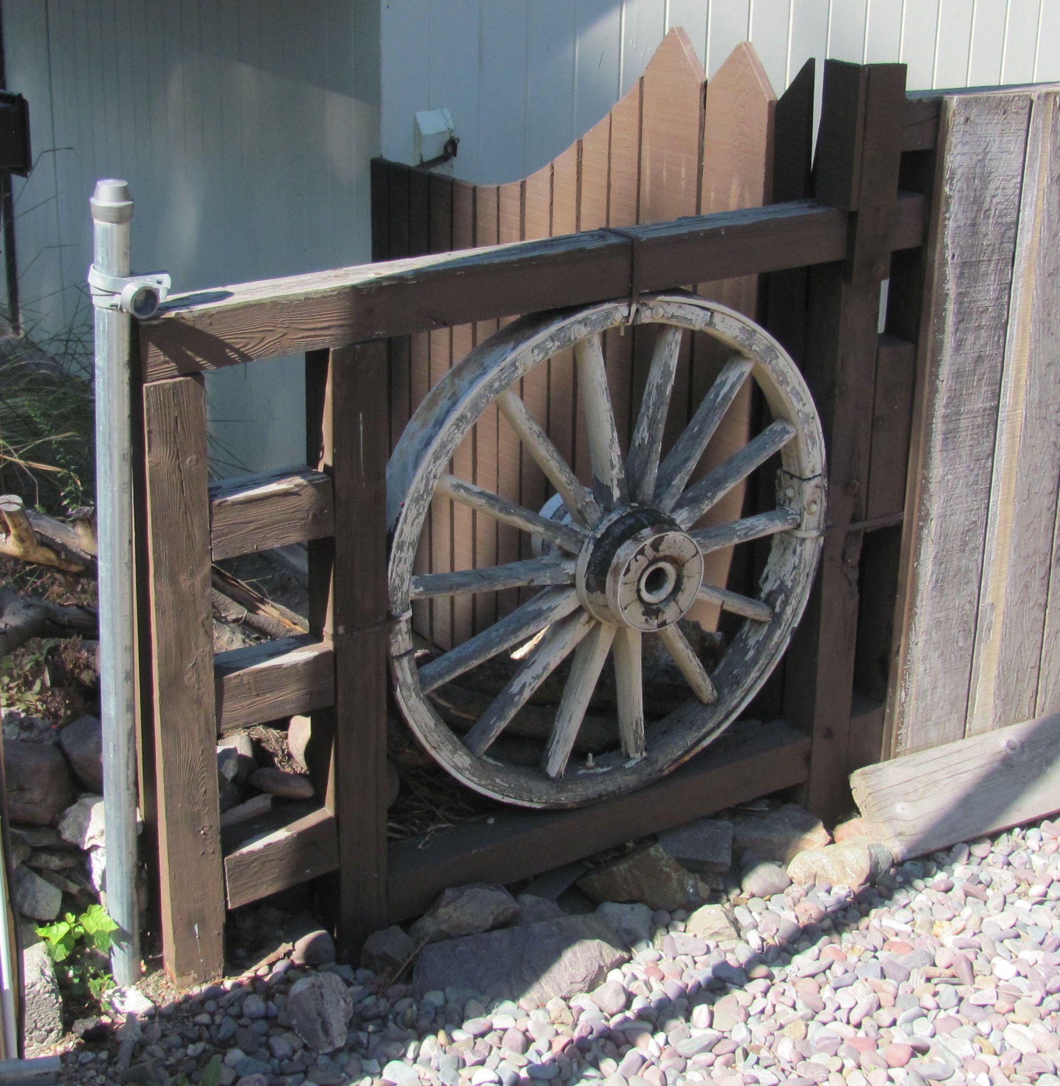 Wagon Wheel Fence Repurposed Pinterest