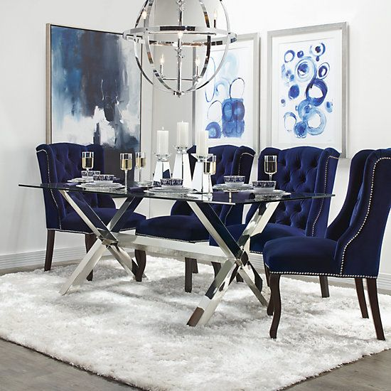 Archer Dining Chair  Espresso   Archer Holiday Deer Dining Room Inspiration   Dining Room   Inspiration   Z Gallerie is part of Dining room blue - Archer Dining Chair  Espresso