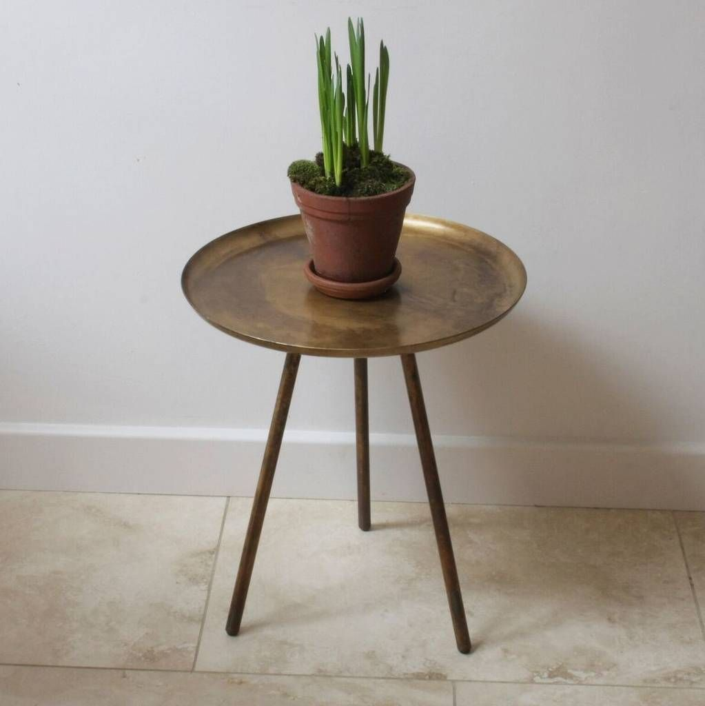 Contemporary Frost Copper Side Table Copper Side Table Table