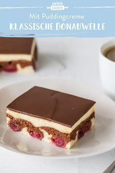 Klassische Donauwelle mit Pudding | Die besten Backrezepte mit Gelinggarantie