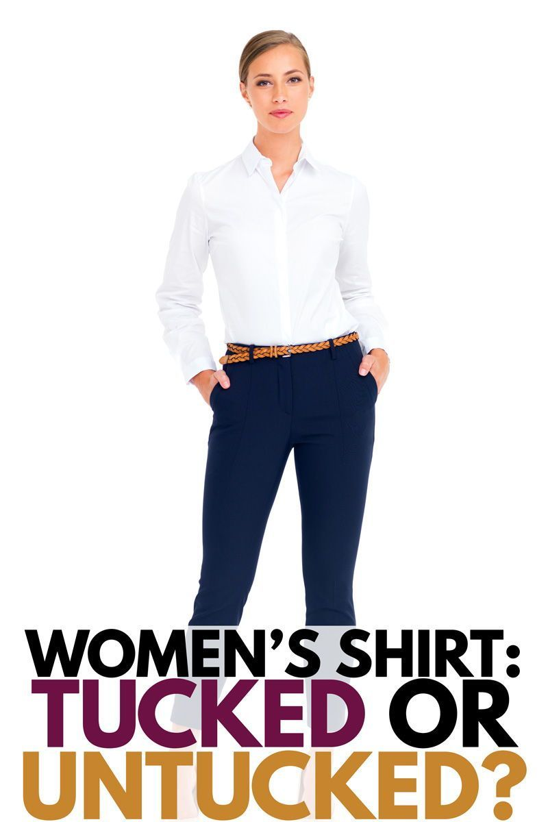 Women S Shirt Tucked Or Untucked In 2020 Womens Shirts Shirts Loose Fitting Tops