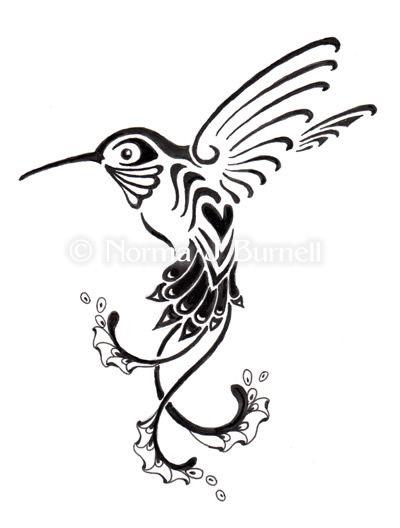 bd1032519 black and white hummingbird tattoo - Google Search | tattoos I like ...