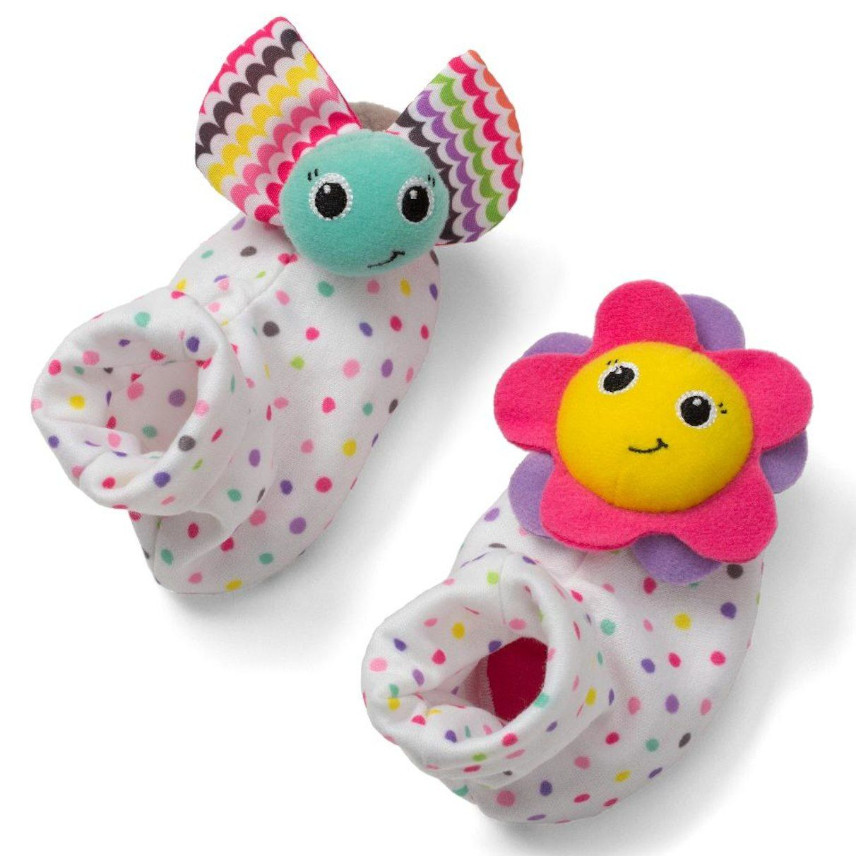 Infantino Sparkle Foot Rattles Rattles Rattle Baby Toys