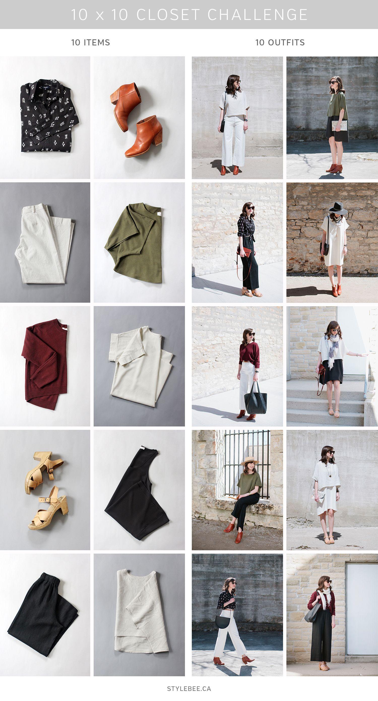 10 X 10 Challenge Minimal Wardrobe Fashion Capsule Wardrobe