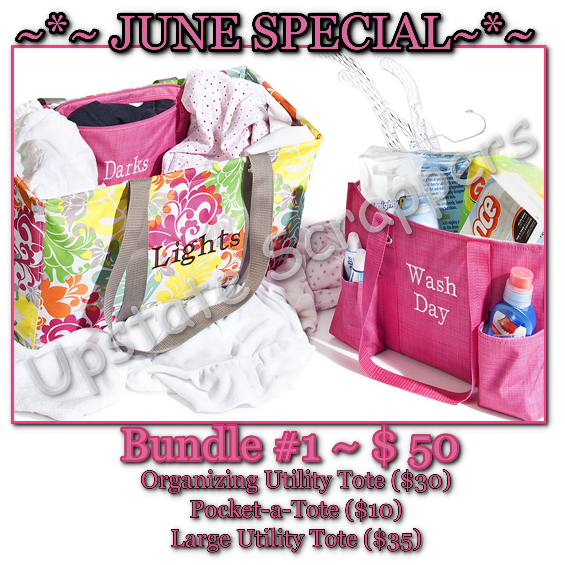 Large Utility Tote $10 - THIS MONTH ONLY!