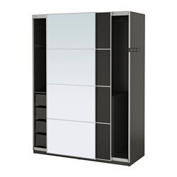 PAX Wardrobe - 150x66x201 cm, soft closing device - IKEA