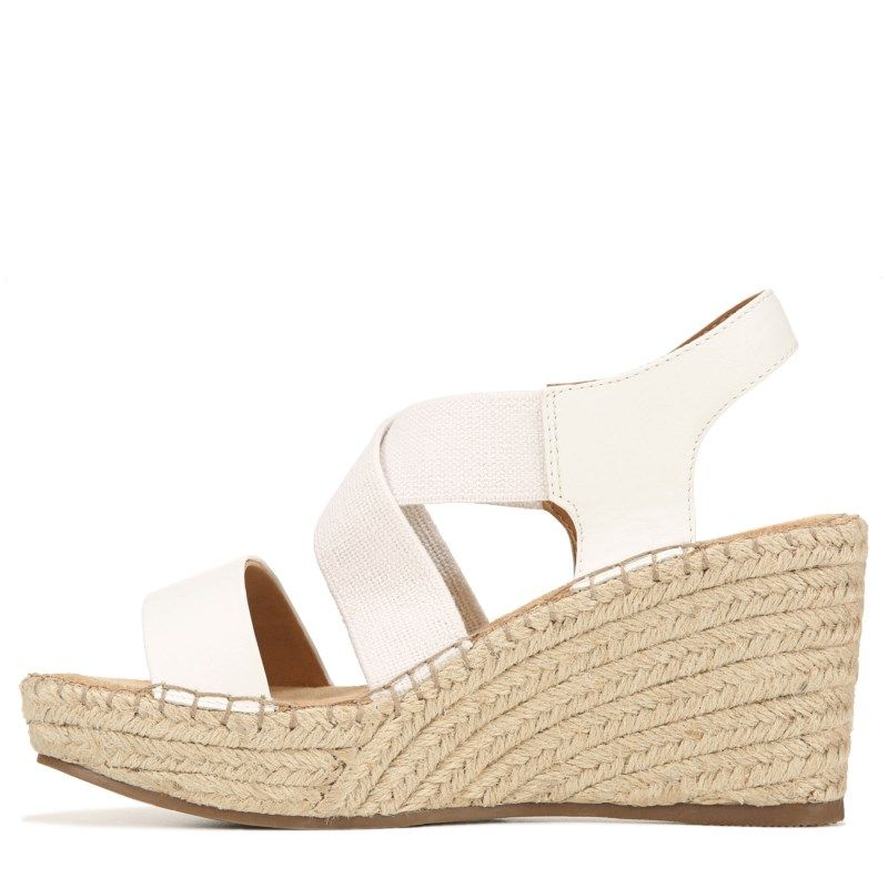 White Mountain Women's Voyage Espadrille Wedge Sandals (White)