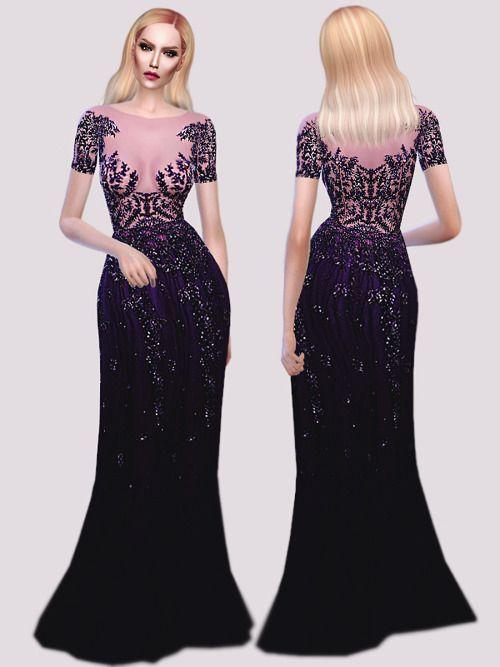 ca12b6e6fd95 Z.M. Purple Gown at Fashion Royalty Sims via Sims 4 Updates