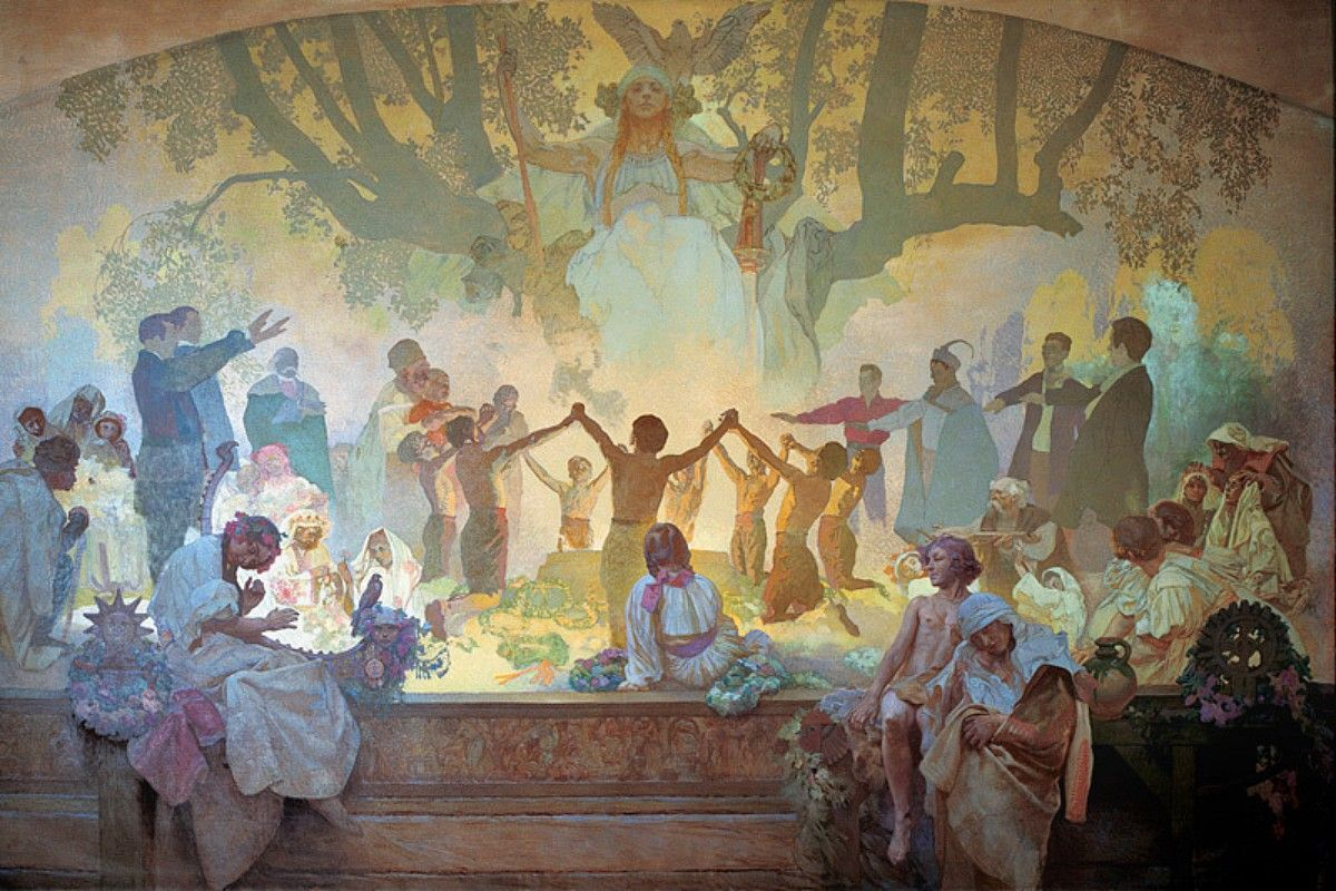 Image result for alphonse mucha slav epic