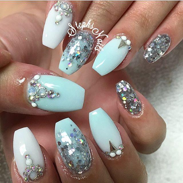 Nail Art Designs Icicle Glamandglitsnails Endless Sea Mint Blue One Of