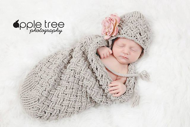 Diagonal Weave Baby Cocoon pattern by Crochet by Jennifer ...
