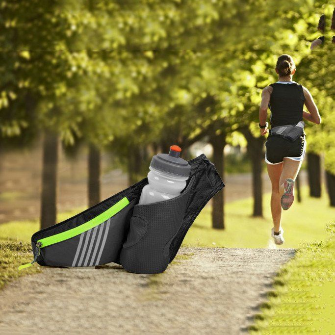 Colorful Outdoor Sports Walking Running Cycling Waist Belt Packs Waist Bag With Water Bottle Holder For Smartphone Belt Pack Bags Waist Bag
