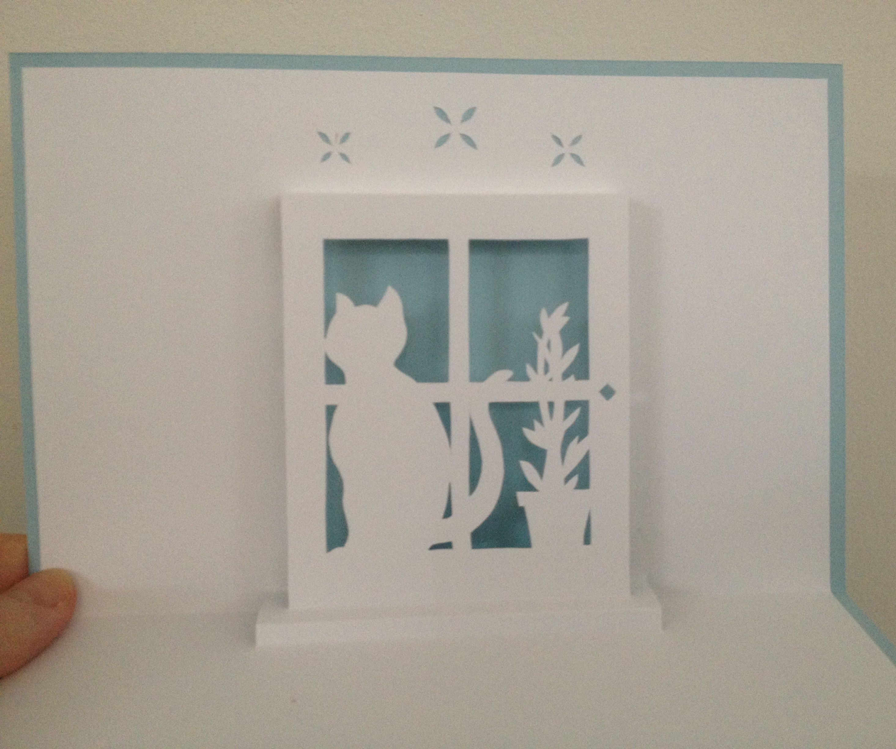 cat in the window template from kirigami manuel d apprentissage