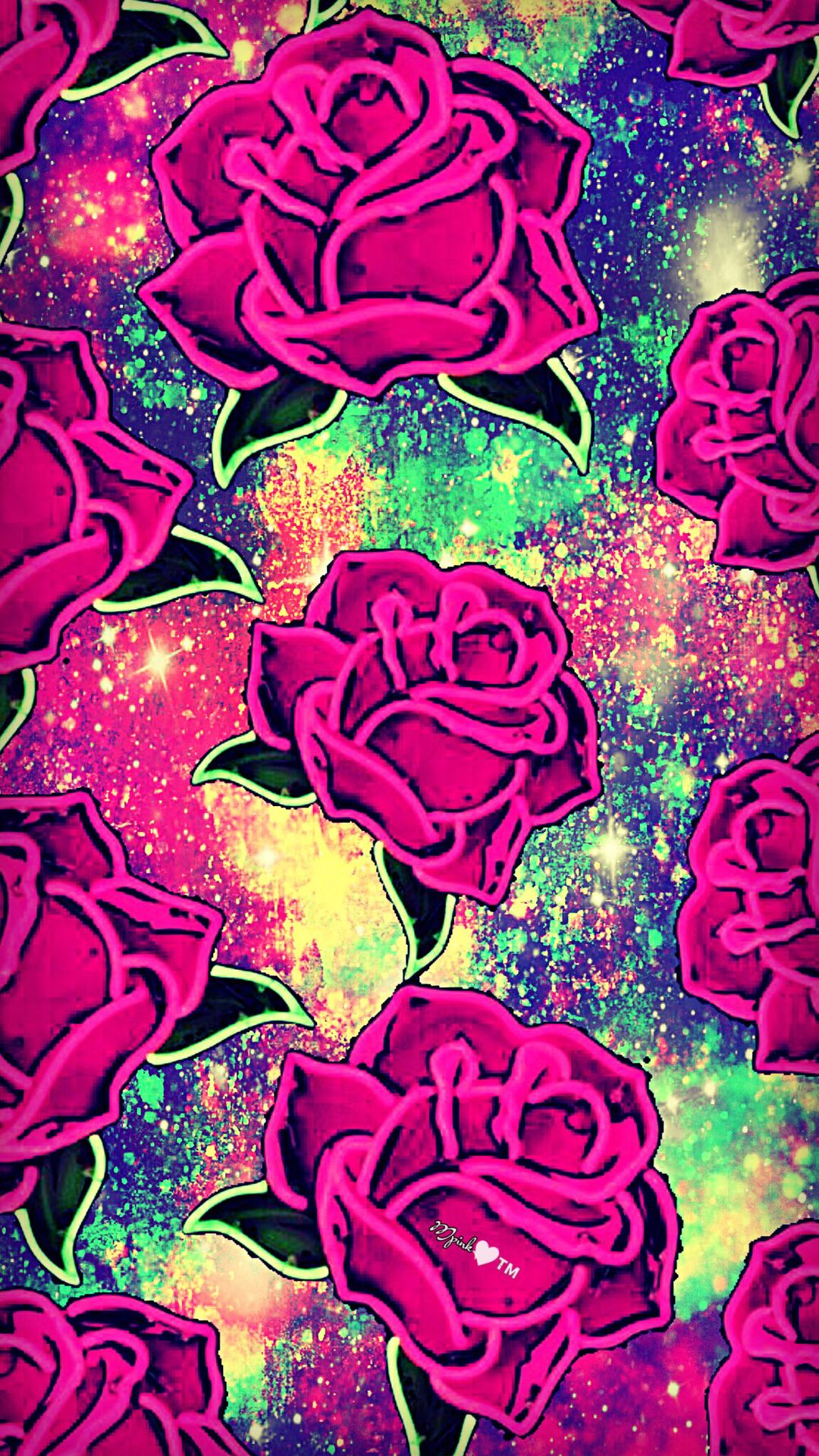 Vintage Rose Galaxy Wallpaper Androidwallpaper Iphonewallpaper