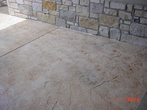 Stamped Concrete Charcoal Release