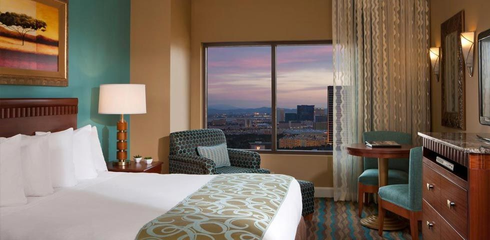 The Bedroom at Hilton Grand Vacations on the Boulevard in Las Vegas, Nevada
