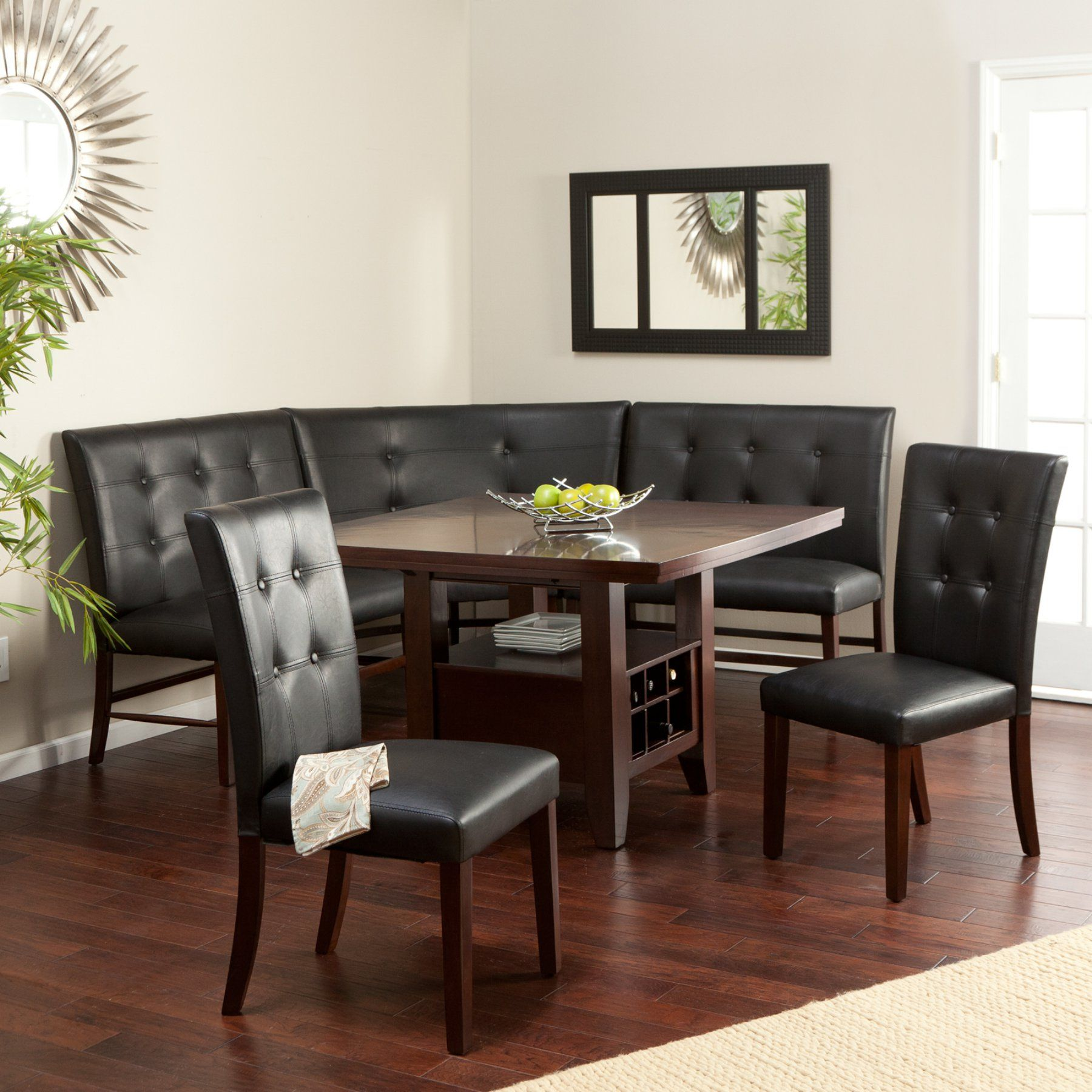 Layton Espresso 6 Piece Breakfast Nook Set  Wit202