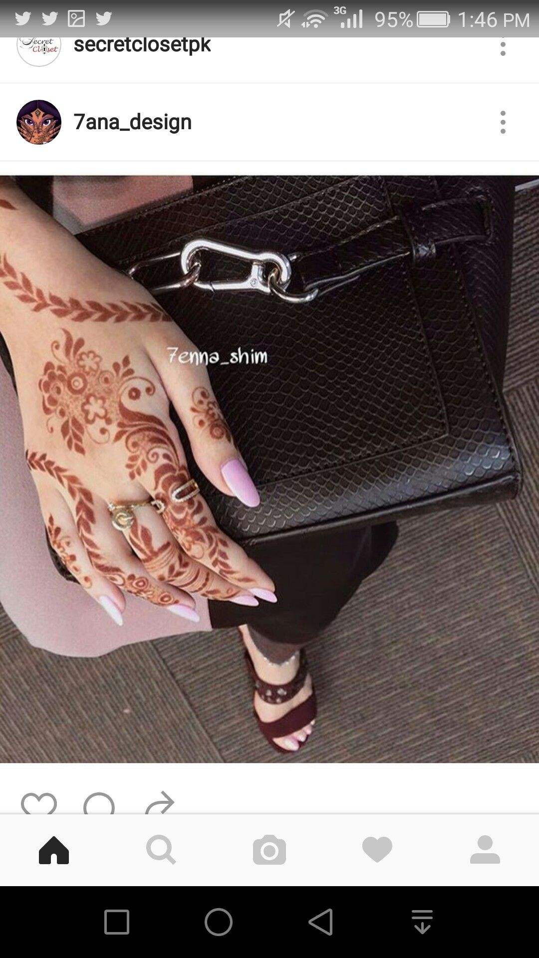 deea3cf404b7b Arabic henna design 7ana design Instagram
