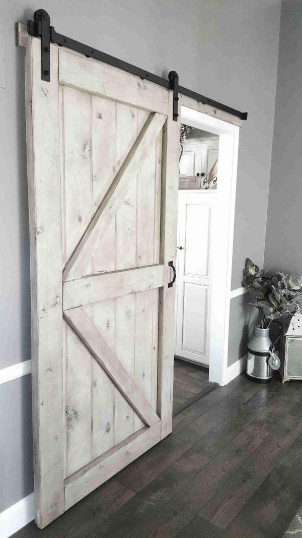 Gray Wash Barn Door Sliding 2 Panel Z Walston Door Company Garage Door Design Barn Door Designs Barn Door Closet