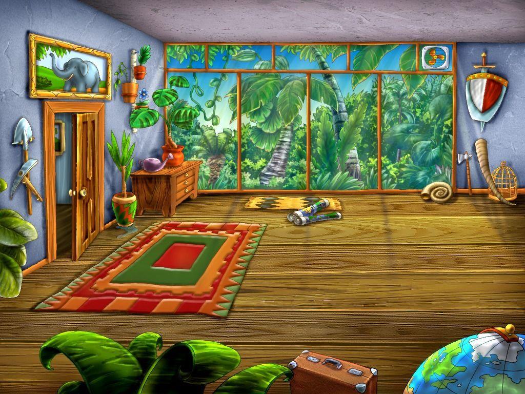 Empty cartoon classroom background - Cartoon