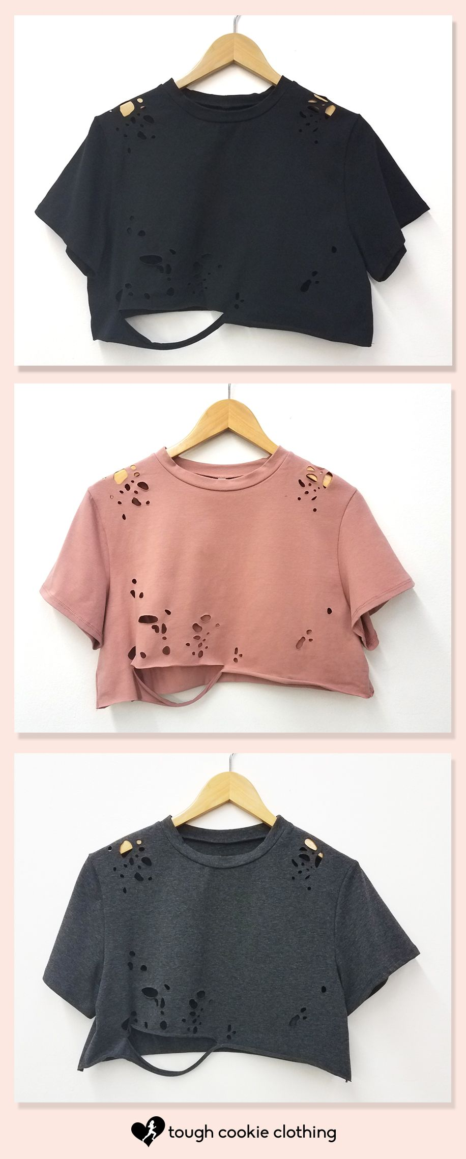eac836849b0e WOMEN S VINTAGE GRUNGE CROP T-SHIRT TOP Must-have summer trendy grunge crop  top  croptops