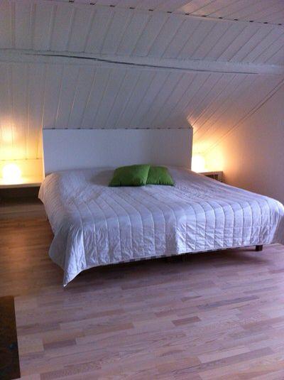 Sänggavel för snedtak Sovrum Pinterest Sänggavel, Sovrum och Inredning