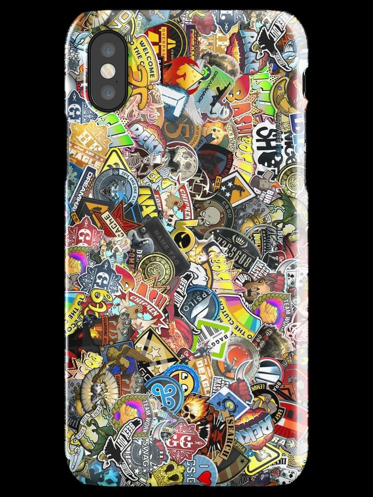 Csgo Sticker Bomb Iphone X Snap By Myob Phone Cover Stickers Sticker Bomb Iphone Case Covers