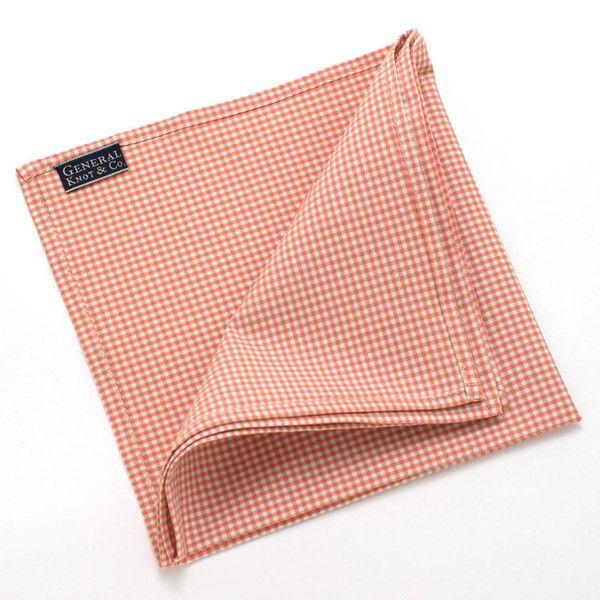 Savannah Micro Check Pocket Square