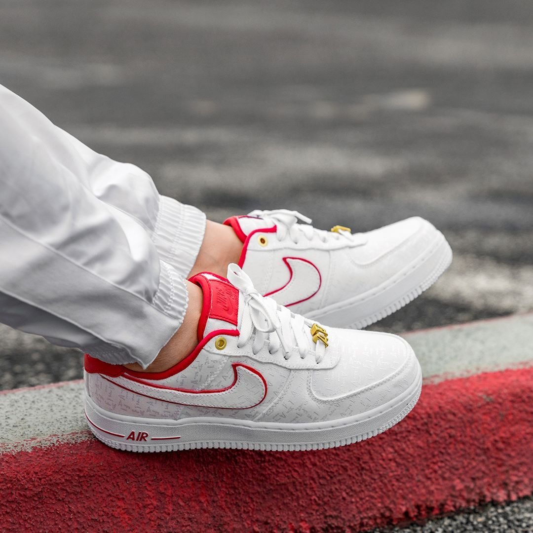 Nike Wmns Air Force 1 07 Lx Herrenschuh Weiss Rot Neue Sneaker Nike Wmns Sneaker
